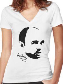 Karl Pilkington - Karl Women's Fitted V-Neck T-Shirt