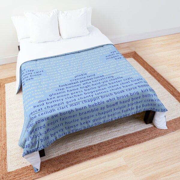 Scottish Words in a Saltire Comforter
