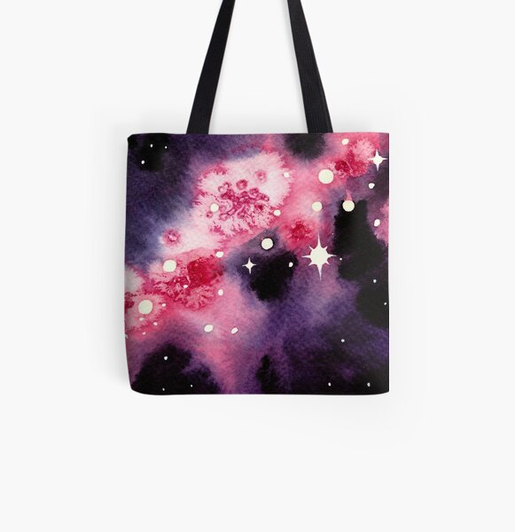 Pink Space All Over Print Tote Bag
