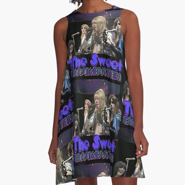 The Sweet Blockbuster - black background A-Line Dress