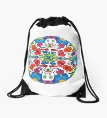 Colored Pencil Mandala Drawstring Bag