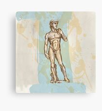 david statue of Michelangelo  Canvas Print