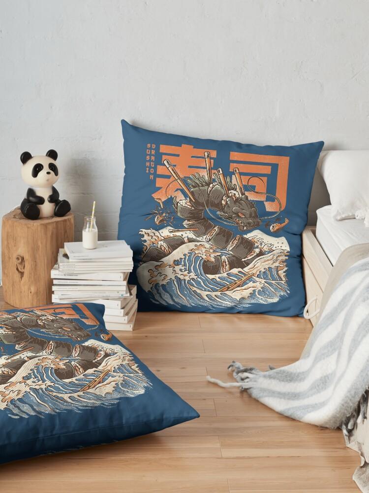 Alternate view of Dragon Sushi Floor Pillow