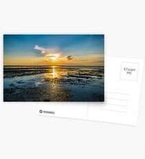 Summer sunset over the beach of Whitstable in Kent Postcards