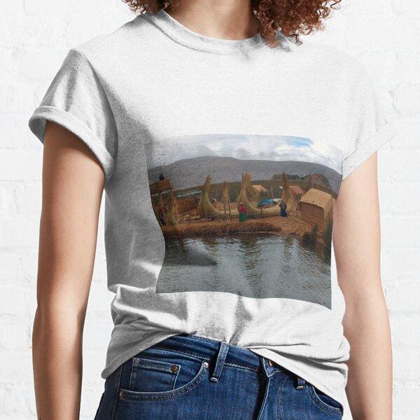 Floating Reed Islands, Lake Titicaca, Peru Classic T-Shirt