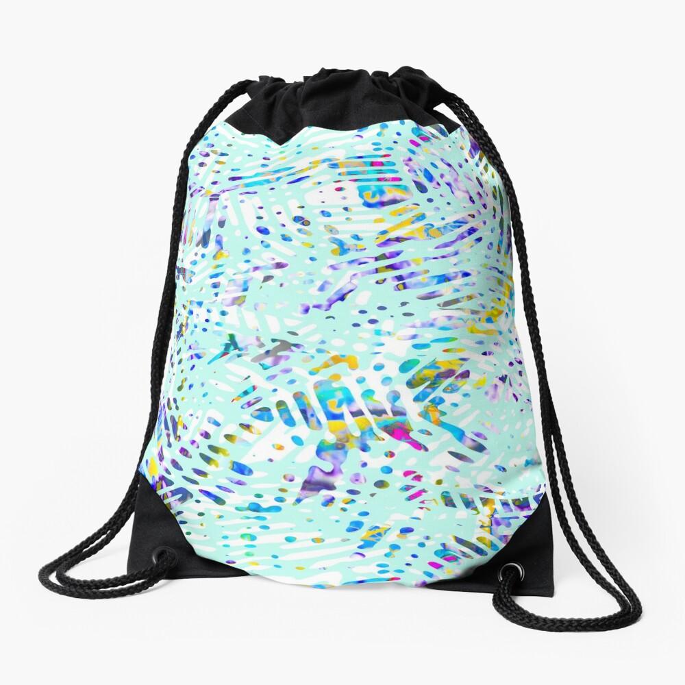 Fancy branches mint color fancy Drawstring Bag