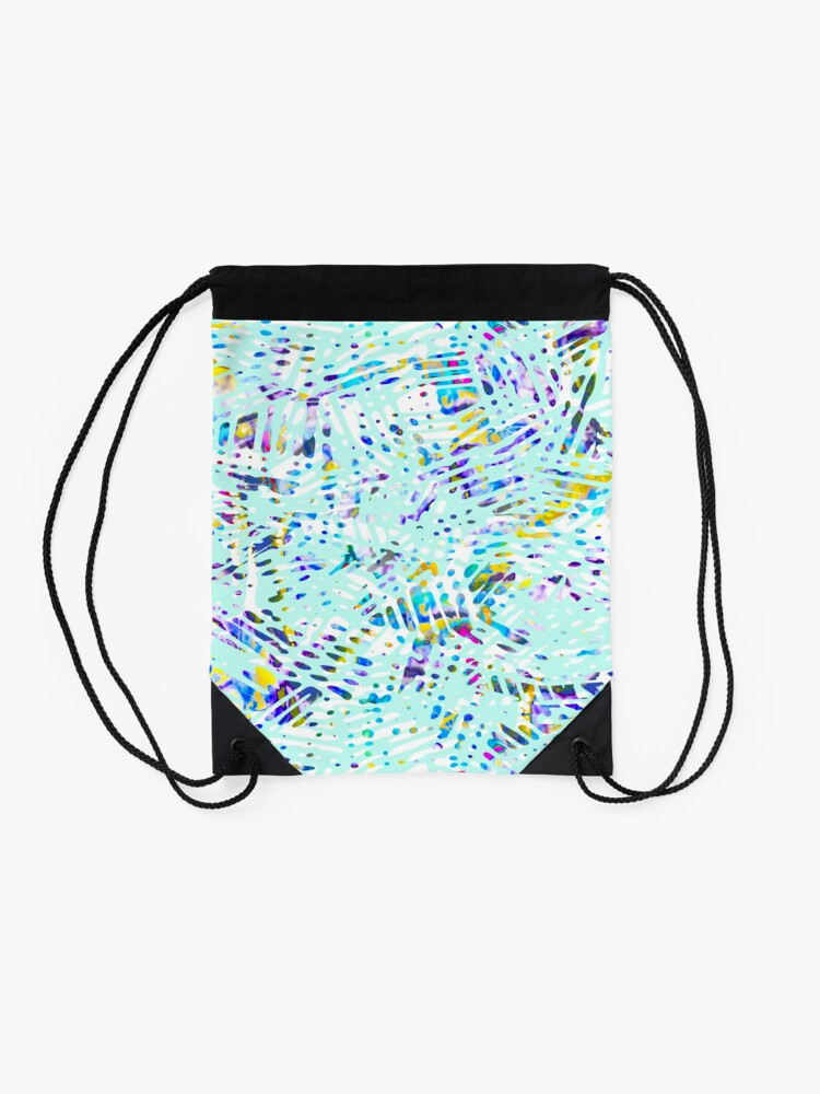 Alternate view of Fancy branches mint color fancy Drawstring Bag