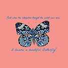 Butterfly Quote, Watercolor Butterfly art by MagentaRose