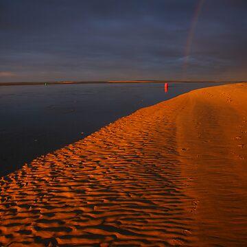 storm sunrise. inverloch victoria by bodhiimages