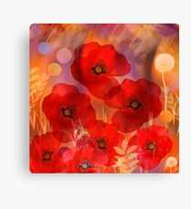 Hot summer poppies Canvas Print