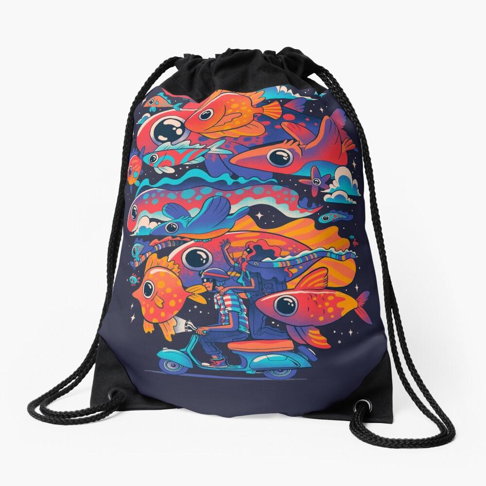 Let's get Lost Drawstring Bag