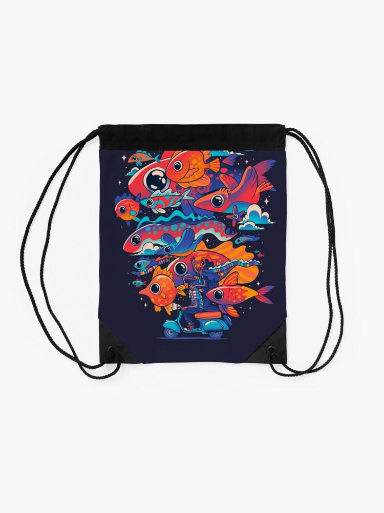Alternate view of Let's get Lost Drawstring Bag