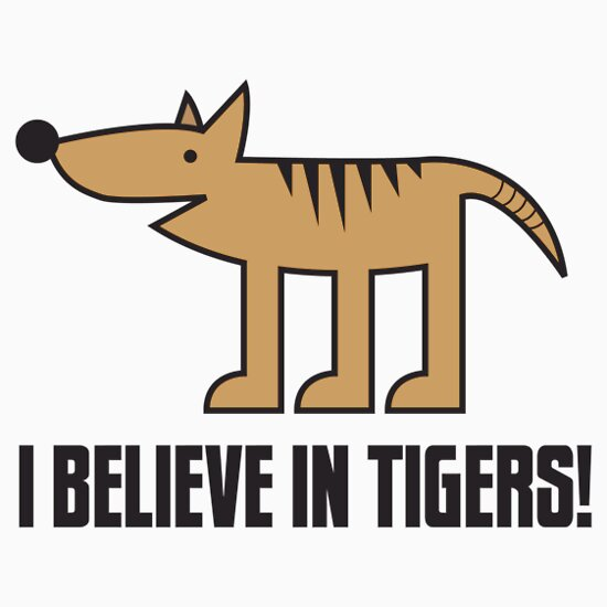 TShirtGifter presents: I Believe in Tigers!