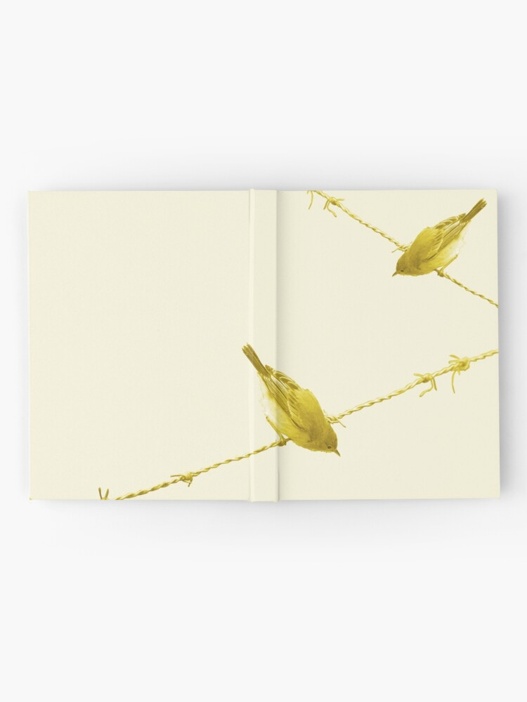 Alternate view of Monochrome - Yellow warblers on the wire Hardcover Journal