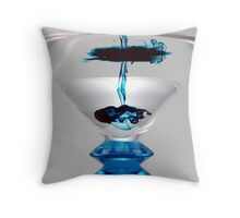 Light Box - Blue Martini Drizzle 1 Throw Pillow