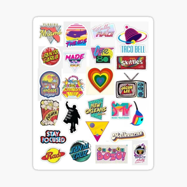 80s Sticker Pack Sticker