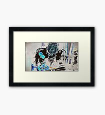 cut and paste Framed Print