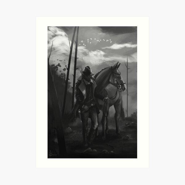 Vaquero del viejo oeste. Lámina artística