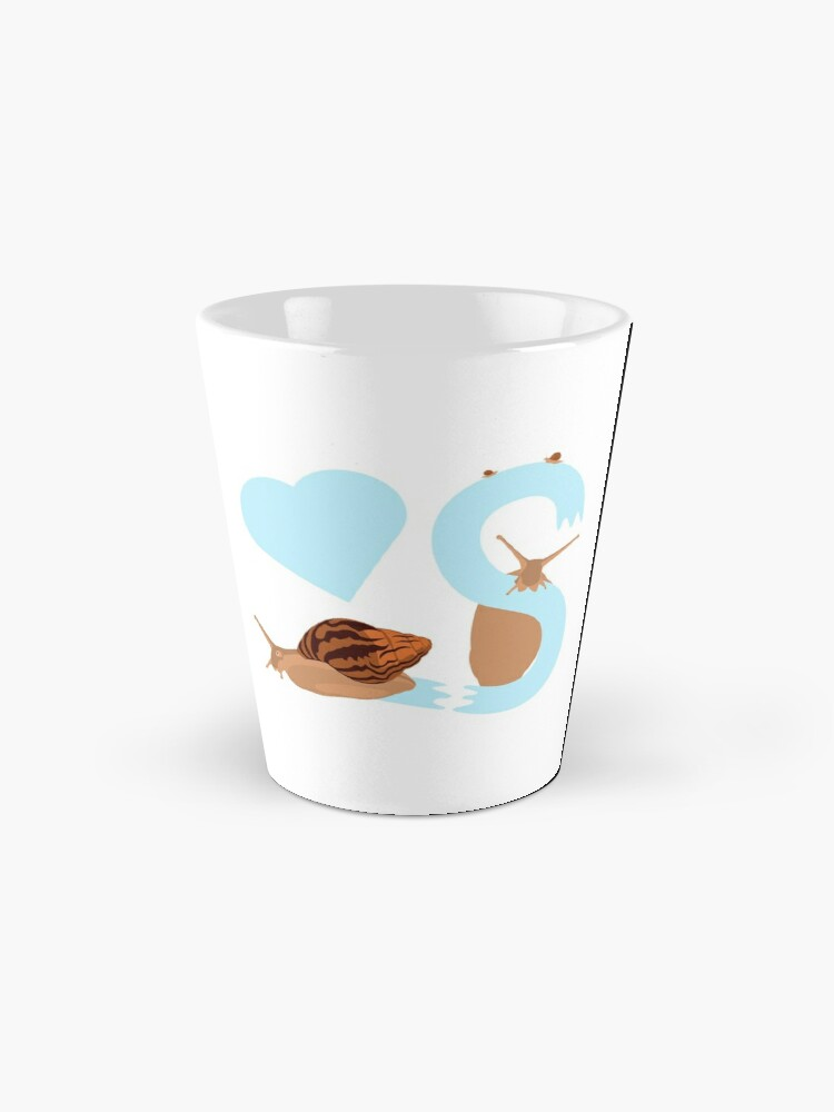 Alternate view of Pet snail with heart and letter S Mug