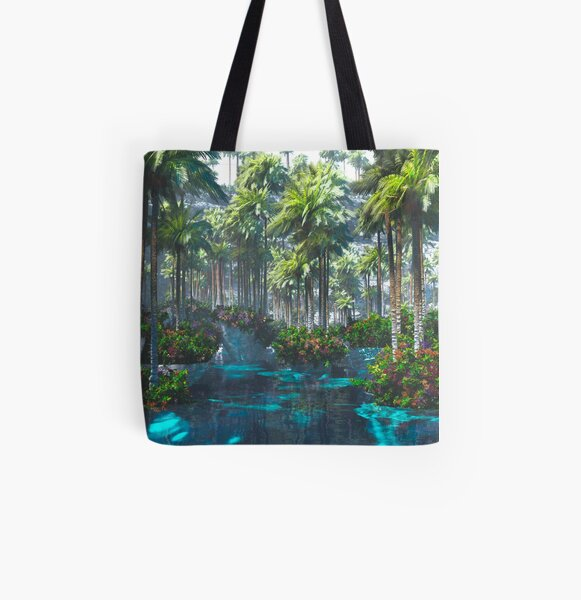 The Floating Garden All Over Print Tote Bag