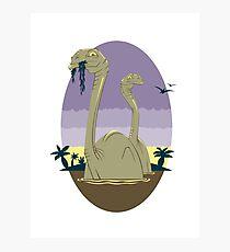 Primeval World - Brontosaurus Photographic Print