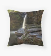 Under The Waterfall (Revisited) Throw Pillow