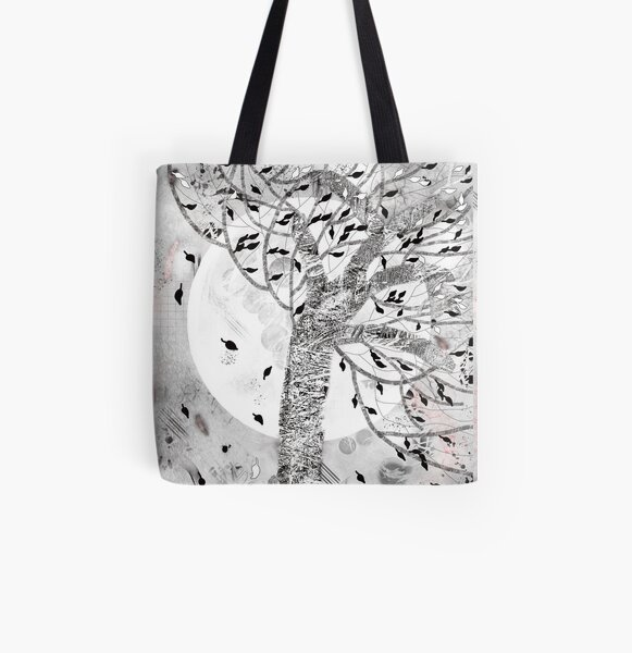 Whirlwind Tree All Over Print Tote Bag