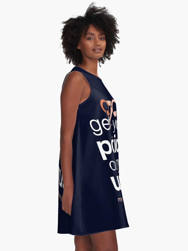 Alternative Ansicht von Holen Sie sich Ihre Politik aus meinem Uterus, Pro Choice Womens Rights A-Linien Kleid