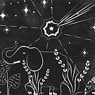 Elephant and comet by erdavid