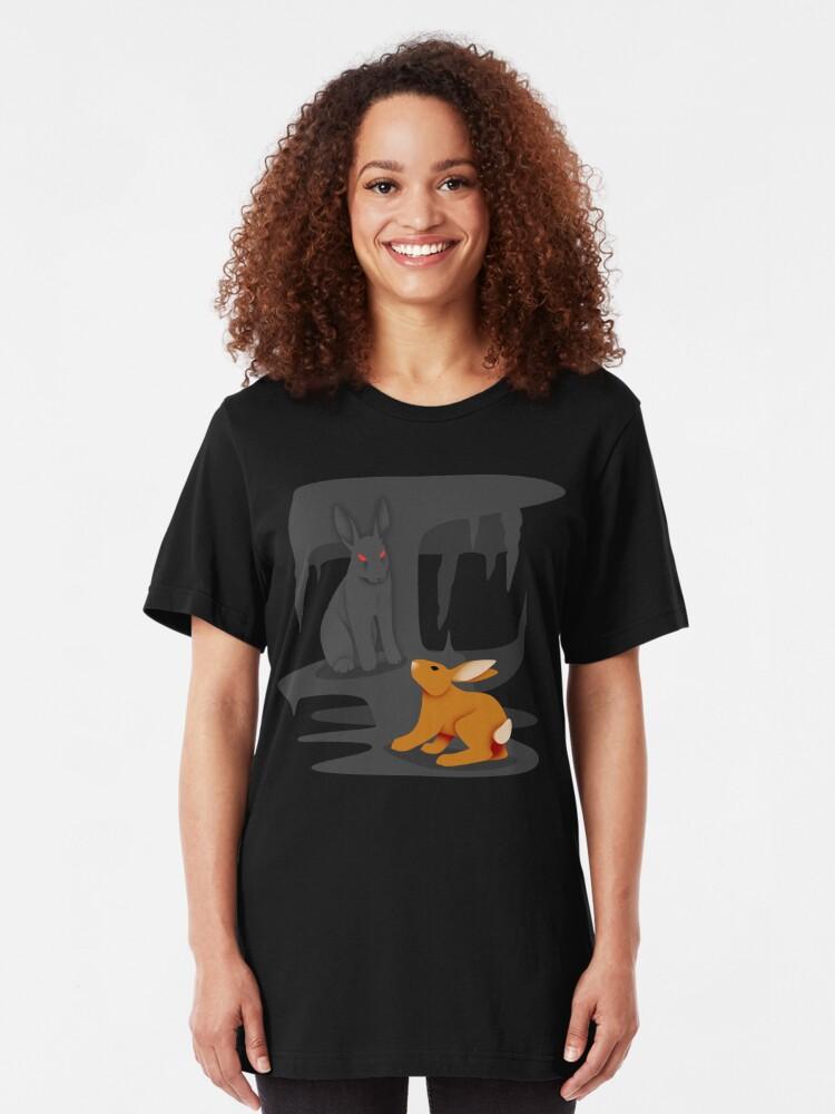 Alternate view of El-ahrairah and the Black Rabbit of Inlé Slim Fit T-Shirt