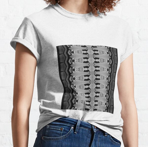 #monochrome, #photography, #architecture, #people, adult, two, bird, animal, flooring Classic T-Shirt