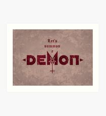 Let's Summon a Demon Art Print