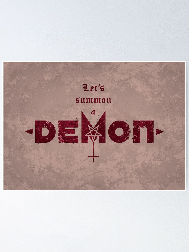 Alternate view of Let's Summon a Demon Poster