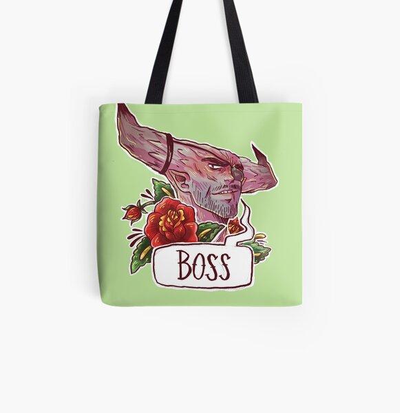 BOSS BULL All Over Print Tote Bag