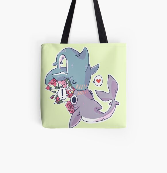 Sharky Smooches All Over Print Tote Bag