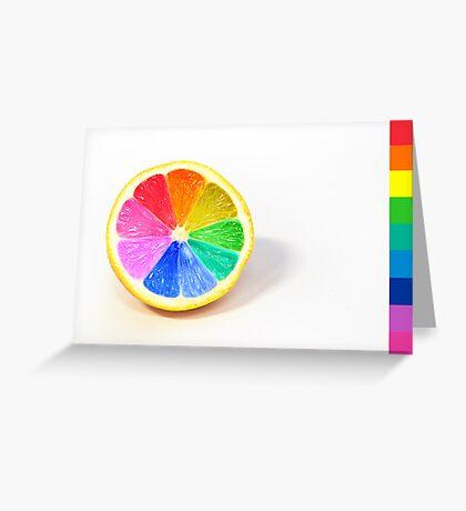 Pantone Colour Wheel Greeting Card