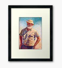 'Hot Day at Tarcombe'  Framed Print
