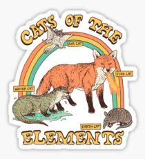 Cats of The Elements Sticker