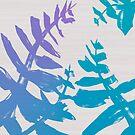 LXP Blue Ferns by Lucas X. Pham