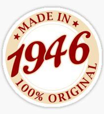 Born in 1946 Vintage Sticker