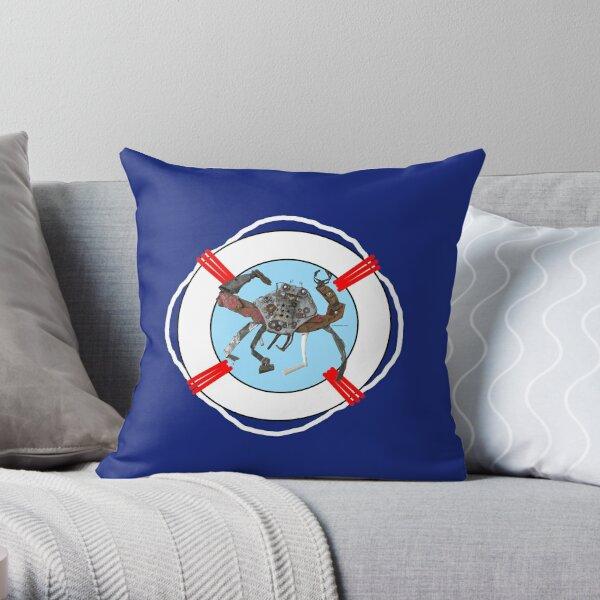 Nautical Crab Throw Pillow