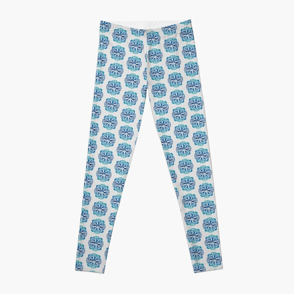 Journey to Moon Mountain | Turquoise Navy Ombré Leggings