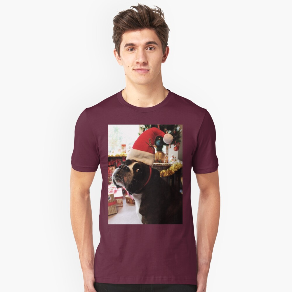Arwen on Christmas Day  -Boxer Dogs Series- Unisex T-Shirt Front