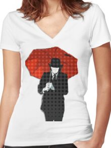 Mayday Parade Red Umbrella Women's Fitted V-Neck T-Shirt