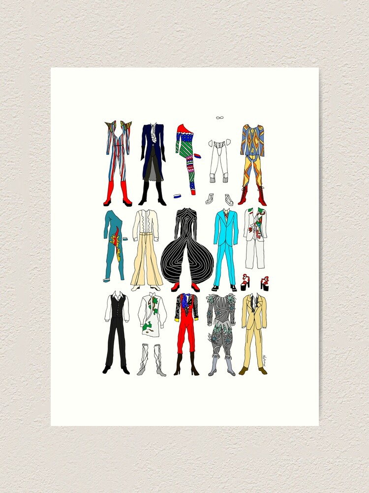 Alternate view of Star Costumes 1 Bowie Art Print