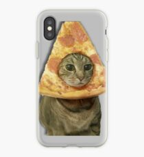 Cat with Pizza Head iPhone Case