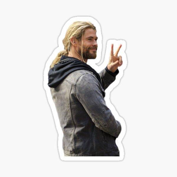 Chris Hemsworth Peace Sticker