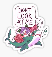Don't Look at Me Sticker