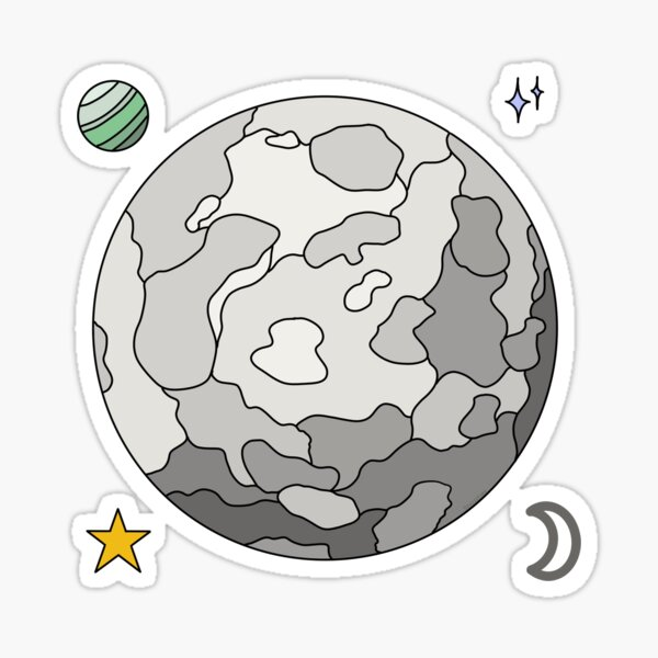 Moon - Stickers Sticker