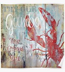 New Orleans Gumbo Restaurant Sign Poster